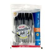 48 Units of PAPERMATE MEDIUM BLACK PENS 10CT 1.0MM - Pens