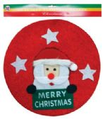 48 Units of PRIDE CHRISTMAS WREATH 13.25 IN SANTA DESIGN - Christmas Decorations