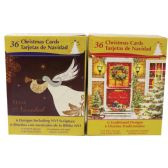 18 Units of CHRISTMAS HISPANIC BOX CARDS 5X7 IN 36 COUNT IN DISPLAY ASSORTED - Christmas Cards