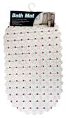 36 Units of BATH MAT 15 X27 INCH ANTI-SLIP CLEAR WITH ASSORTED DOTS - Bath Mats