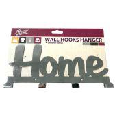 24 Units of OVER THE DOOR HANGER 4 HOOKS METAL CHROME - Hooks