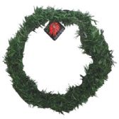 48 Units of CHRISTMAS NATURAL GREEN PINE WREATH 18 IN - Christmas Ornament