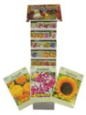 1200 Units of VALLEY GREENE FLOWER SEEDS DISPLAY ASSORTED VARIETIES PREPRICED $0.59 - Garden Cleanup Aids