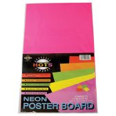 36 Units of POSTER BOARD 14 X22IN 2 PACK NEON PINK AND YELLOW - Poster & Foam Boards