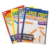 80 Units of WORD FIND LARGE PRINT 97 PAGES ASSORTED VOLUMES MADE IN USA PREPRICED $3.95 - Coloring & Activity Books
