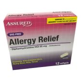 24 Units of ALLERGY RELIEF 12 SOFTGELS - Personal Care Items