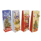72 Units of CHRISTMAS GIFT BAG 14 X 5 X 3.25 IN BOTTLE SIZE - Gift Bags