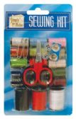 48 Units of SEWING KIT 26 PIECES WITH 18 SPOOLS/ SCISSORS/ NEEDLE/ 2 SAFETY PINS AND 4 BUTTONS
