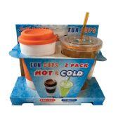 12 Units of TUMBLER AND COFFEE MUG 17 OZ BPA FREE DISHWASHER SAFE ASSORTED - Dinnerware > Drinkware