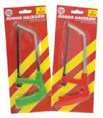 24 Units of JUNIOR HACKSAW 6 IN BLADE ASSORTED COLORED HANDLES - Toy Sets