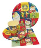 72 Units of PARTY SOLUTION PARTY SET CHRISTMAS - Christmas Decorations