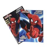 72 Units of COLORING AND ACTIVITY BOOK 96 PAGES SPIDER-MAN JUMBO ASTD - Activity Books