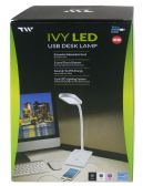 12 Units of DESK LAMP LED LIGHT AND USB CHARGER WHITE