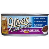 24 Units of 9LIVES CAT FOOD 5.5oz BEEF SLICES - PET CHEW/MUNCHIES/RAWHIDES/STICKS