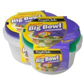 6 Units of FOOD CONTAINERS BIG BOWL 3 COUNT W/LIDS 48 OUNCE RESUSABLE COOL GRIP HANDLES AND LEAK RESISTANT DISHWASHER MICROWAVE AND FREEZER SAFE BPA FREE - Storage Holders and Organizers