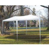 TUBE GAZEBO 12 X 24 FEET WHITE - Camping