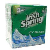 18 Units of IRISH SPRING BAR SOAP 3 PK 3.75 OZ ICY BLAST - Soap & Body Wash