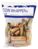 50 Units of COIN WRAPPERS 36 COUNT ASSORTED - Coin Holders & Banks