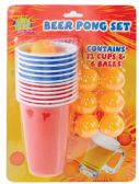 24 Units of BEER PONG SET - 12 16 OUNCE CUPS+6 BALLS - Disposable Cups