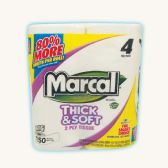 24 Units of MARCAL BATH TISSUE 4 PACK 150-2 PLY SHEETS THICK AND SOFT - Toilet Paper Holders