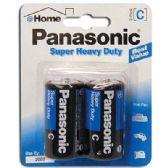 48 Units of PANASONIC SUPER BATTERIES HEAVY DUTY C 2 PACK - Batteries