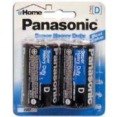 48 Units of PANASONIC BATTERIES SUPER HEAVY DUTY D 2 PACK - Batteries