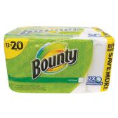 BOUNTY PAPER TOWELS 12 PACK 67-2 PLY SHEETS NOT INDIVIDUALLY WRAPPEDINLIMIT 20 - PAPER