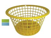 48 Units of BASKET ROUND 16 X 9 INCHES ASSORTED COLORS - Baskets
