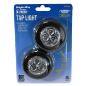 12 Units of BRIGHT WAY LED TAP LIGHT 2PK INCLUDES BATTERY - Lightbulbs