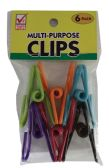 36 Units of METAL CLIPS 6 COUNT MULTI PURPOSE - CLIPS/FASTENERS