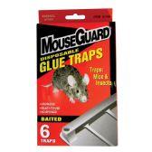 12 Units of MOUSEGUARD DISPOSABLE GLUE TRAP 6 CT - Pest Control
