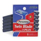 36 Units of PERSONNA MEN'S TWIN BLADE PLUS RAZOR 5 COUNT - Shaving Razors