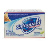 24 Units of SAFEGUARD BAR SOAP 2 PK 3.2 OZ EACH ANTIBACTERIAL WITH ALOE - Soap & Body Wash