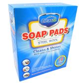 36 Units of STEEL WOOL SOAP PAD 10 CT - Soap & Body Wash