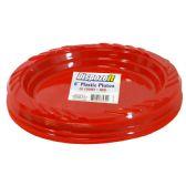 36 Units of PLASTIC PLATE 20 CT 6 RED - Dinnerware > Plates