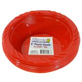 36 Units of PLASTIC BOWL 20 CT 8 OZ RED - Dinnerware > Bowls