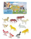 48 Units of FARM ANIMALS PLASTIC 1-2 12 CT ASTD - Animals & Reptiles