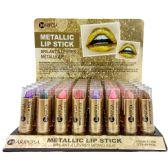 48 Units of ARIPOSA METALLIC LIP STICK 8 COLOR 48 CT .12 OZ - Lip Stick
