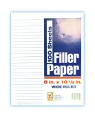 48 Units of CHECK PLUS FILLER PAPER 100 SHEET 8 X 10.5 IN WIDE RULED - PAPER