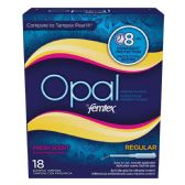 12 Units of OPAL FEMTEX TAMPONS 18 CT REGULAR FRESH SCENT8HR PROTECTION - Personal Care Items