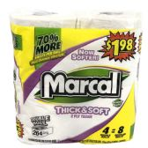 6 Units of MARCAL BATH TISSUE 264 SHEET6-DOUBLE ROLLS THICK AND SOFT - Paper