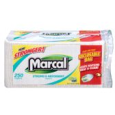 18 Units of MARCAL NAPKINS 250CT WHITE RECLOSABLE BAG SIZE 12 X 6.25 X 5.75 - NAPKIN/TOWEL HOLDER