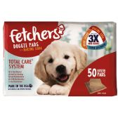 "2 Units of FETCHERS DOGGIE PADS W/ BAKING SODA 23"" X 24"" 50 CT TRIPPLE ACTION WITH ATTRACTANT - PET ACCESSORIES"