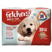 "4 Units of FETCHERS DOGGIE PADS W/ BAKING SODA 23"" X 24"" 30 CT TRIPPLE ACTION WITH ATTRACTANT - PET ACCESSORIES"