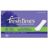 12 Units of FRESHTIMES PANTILINER LONG 40CT - Personal Care Items