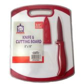 12 Units of PARING KNIFE AND CUTTING BOARD - Box Cutters and Blades