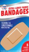 48 Units of BANDAGES 5 COUNT 2 X 4 INCH EXTRA LARGE FLEXIBLE FABRIC