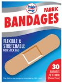 48 Units of BANDAGES 30 COUNT .75 X 3 INCH FLEXIBLE