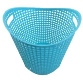 18 Units of WEAVED BASKET 14X13 INCHES WHITE AND AQUA ASSORTED - Storage Holders and Organizers