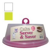 36 Units of CAKE SERVER 10 INCH ASSORTED COLORS - Storage Holders and Organizers
